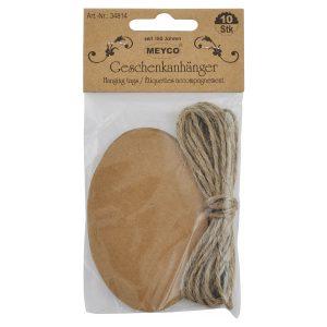 Etichetă Pentru Cadouri, Formă Ovală, 10 Bucăți, Meyco, 34814