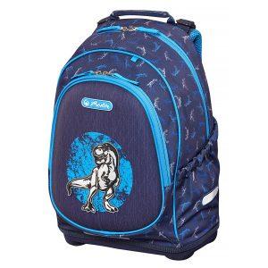 Rucsac Neechipat Pentru Școală, Bliss, Blue Dino, Herlitz, 50014019