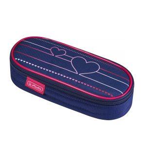 Necessaire Oval, Motiv Heartbeat, Herlitz, 50021178