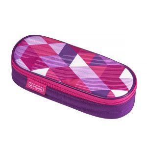 Necessaire Oval, Motiv Pink Cubes, Herlitz, 50021185