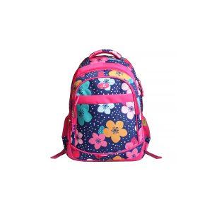 Ghiozdan Școlar Pentru Adolescenți, Roz, Flori, Ecada, 61406