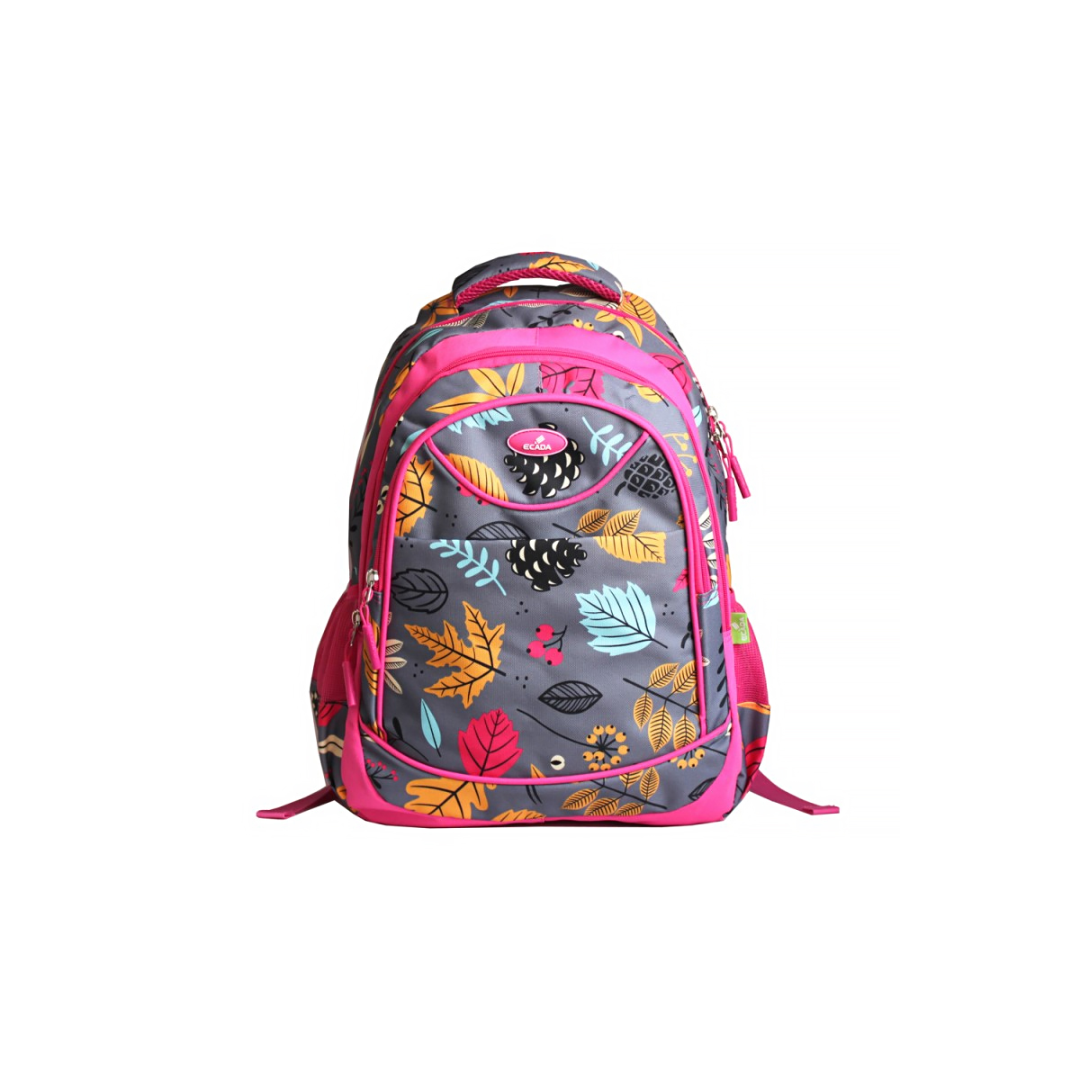 Ghiozdan Școlar Pentru Adolescenți, Multicolor, Flori, Ecada, 61407