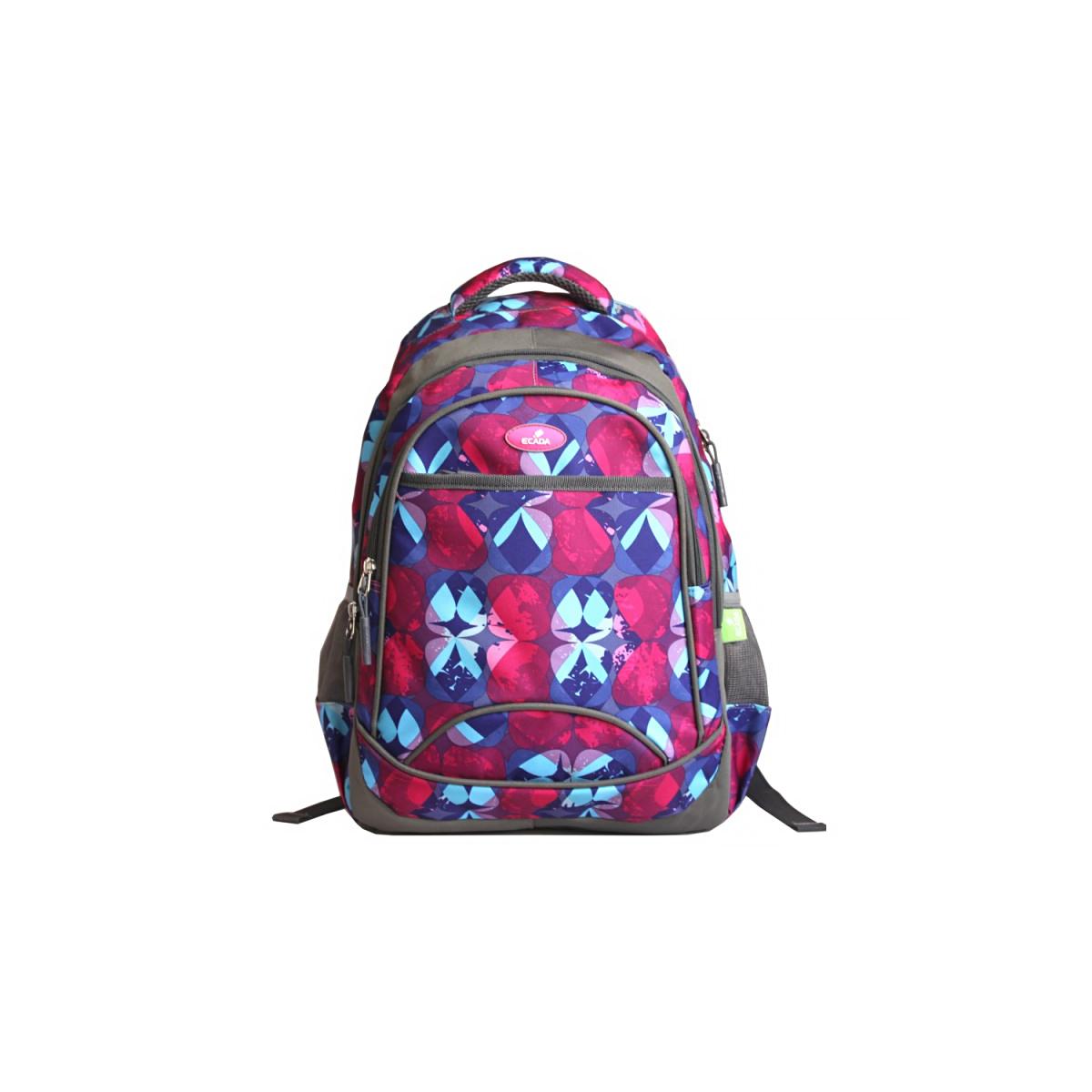 Ghiozdan Școlar Pentru Adolescenți, Multicolor, Flori Abstract, Ecada, 61408