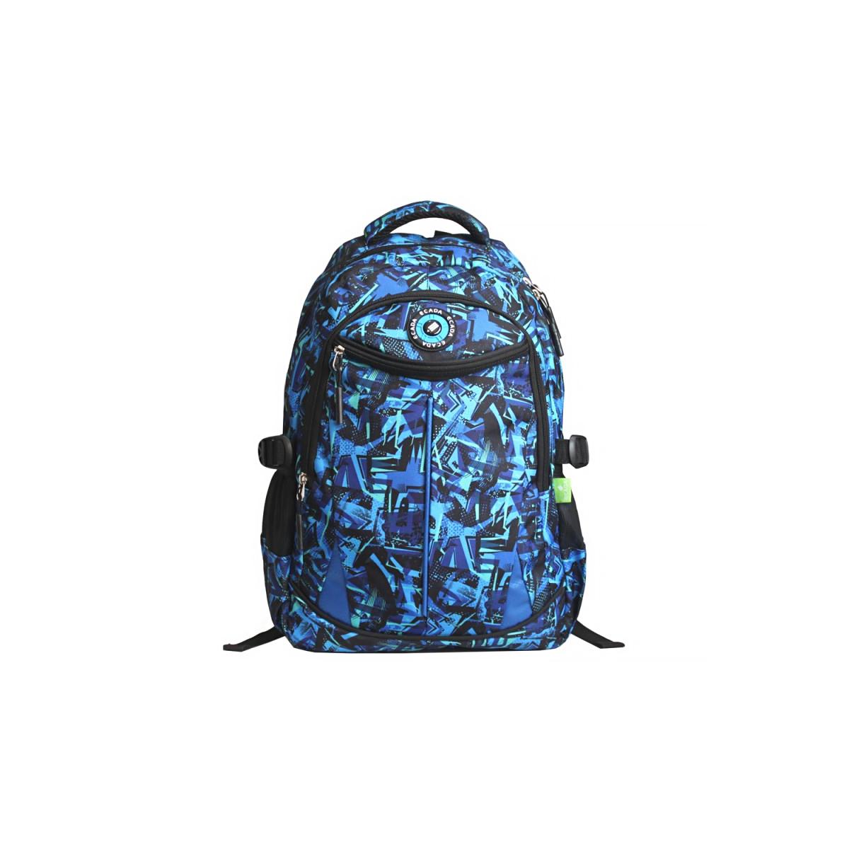 Ghiozdan Școlar Pentru Adolescenți, Albastru, Abstract, Ecada, 61461