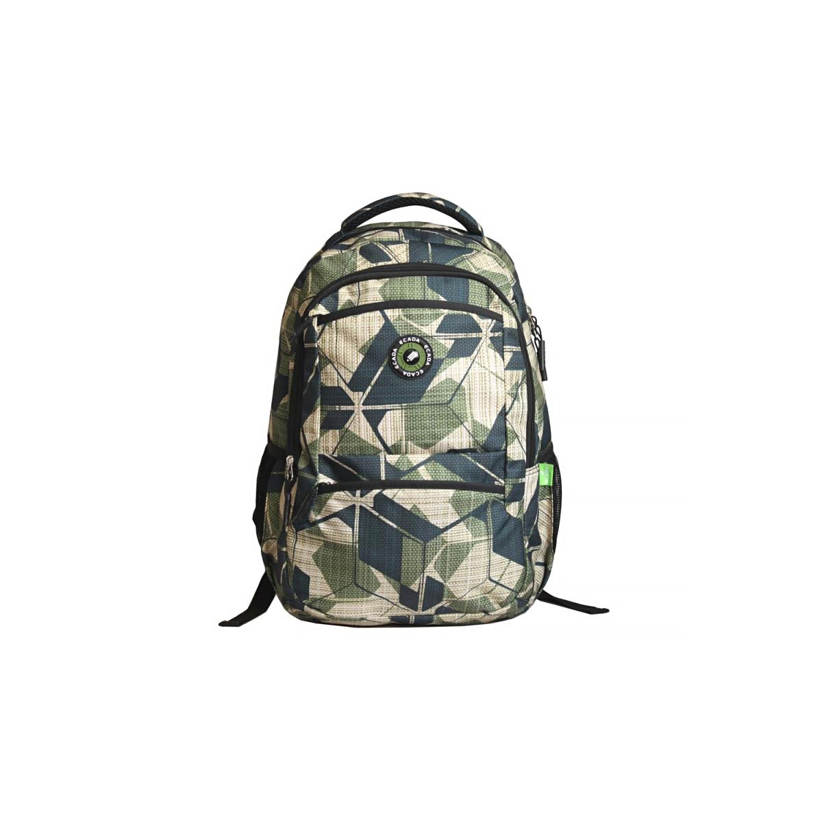 Ghiozdan Școlar Pentru Adolescenți, Verde, Army, Ecada, 61462