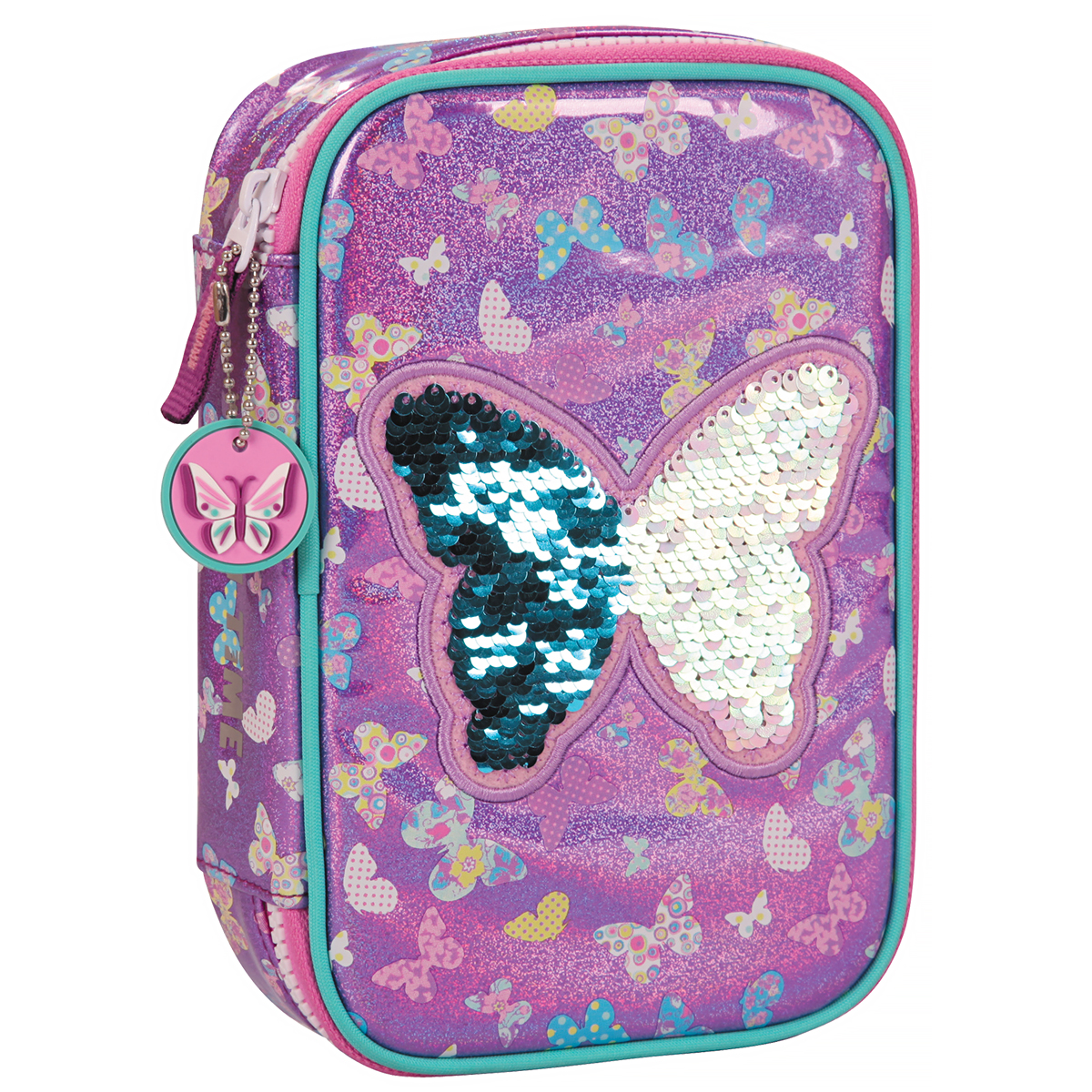 Penar Neechipat cu Paiete Reversibile, Fun Time Mega Clever Pack, Butterfly, Tiger Family, FTSB-CP01