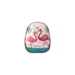 Ghiozdan Pentru Grădiniță cu Paiete Reversibile, 31 Centimetri, Roz, Flamingo, Daco, GH224