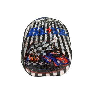 Ghiozdan Pentru Grădiniță cu Paiete Reversibile, 31 Centimetri, Multicolor, Racing, Daco, GH273