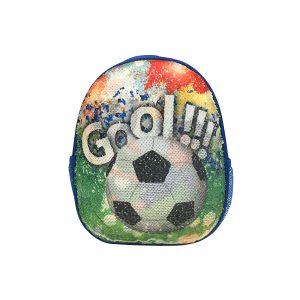 Ghiozdan Pentru Grădiniță cu Paiete Reversibile, 31 Centimetri, Multicolor, Fotbal, Daco, GH274