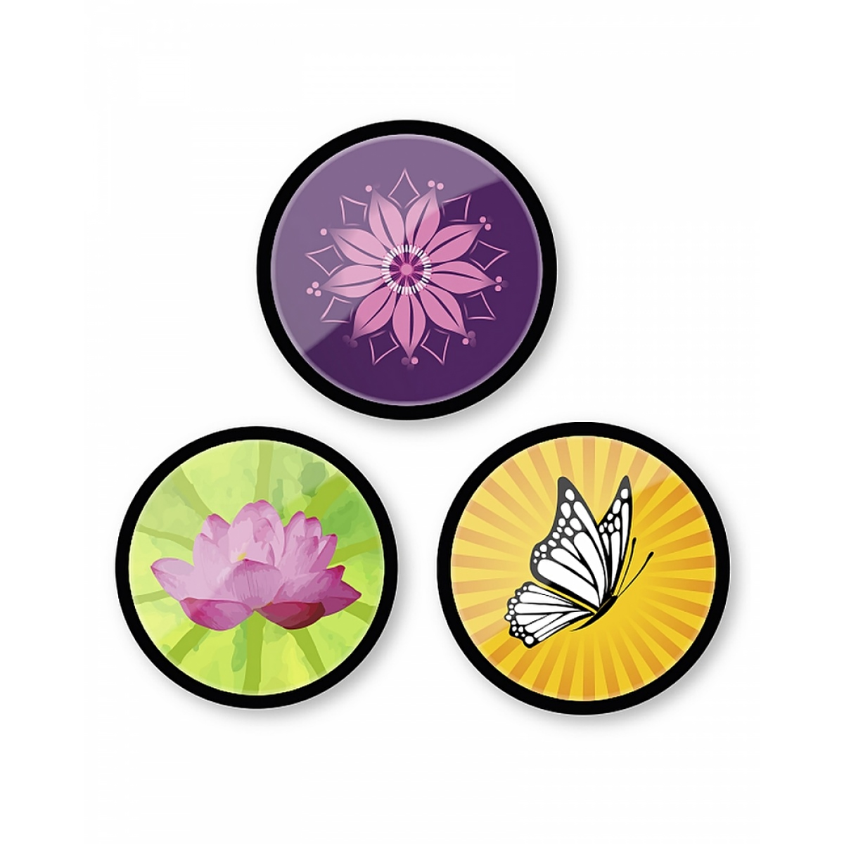 Set Insigne Pentru Troller, 3 Bucăți, Bloom, Nikidom, ND-9123