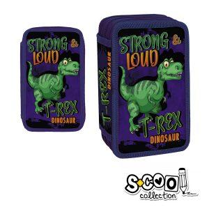 Penar Echipat cu Trei Fermoare, Model T-Rex Dinosaur, S-Cool, SC750