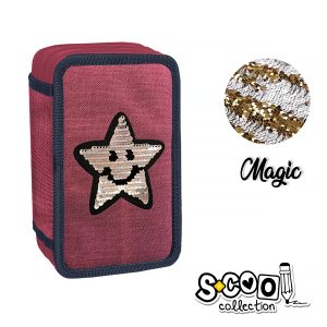 Penar Echipat cu Trei Fermoare, Model Magic Happy Star, S-Cool, SC865