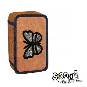 Penar Echipat cu Trei Fermoare, Model Butterfly, S-Cool, SC866