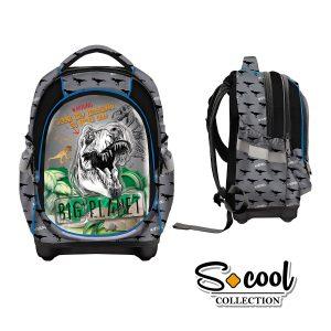 Ghiozdan Școlar cu Trei Compartimente, Multicolor, Big Planet, S-Cool, SC872