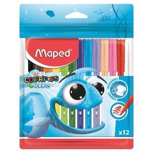 Set Carioci, Color'Peps Ocean, 12 Culori, Maped, 845720