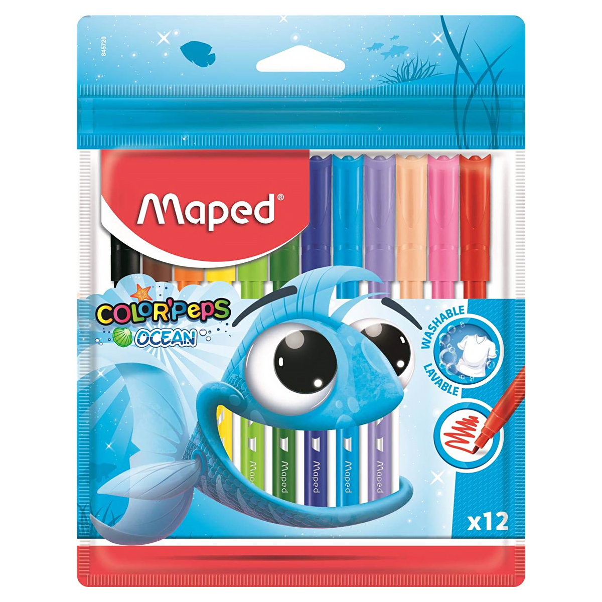 Set Carioci, Color'Peps Ocean, 12 Culori, Maped, 845720