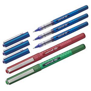 Pachet Promoţional 3 + 2, Roller 0.7 UB-157D Eye, 3 x Albastru, Roşu, Verde, Uni, PAC005