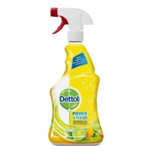 Spray Multifuncțional, Trigger Power & Fresh, Sparkling Lemon & Lime Burst, 500 ml, Dettol, DT3034236